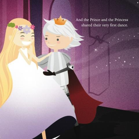 The prince and princess dance